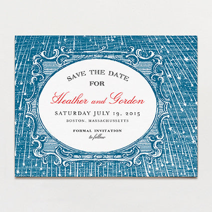 Starry Night Save The Date Postcard