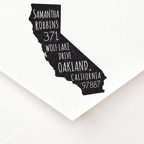 Home State Address Stamp - $55