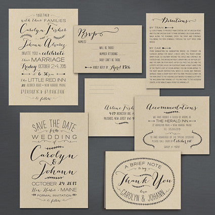 Sweet Mix Wedding Invitation