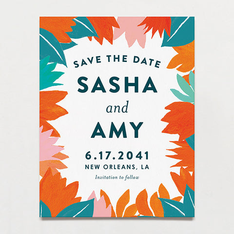 Talavera Save The Date Postcard