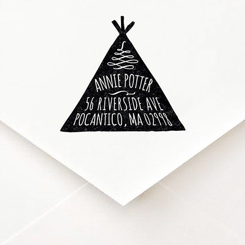 Teepee Address Stamp - $55