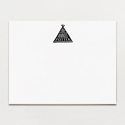 Teepee Personalized Note Card