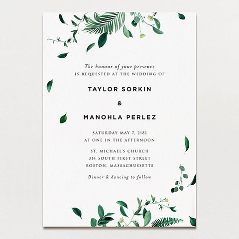 Tempest Wedding Invitation
