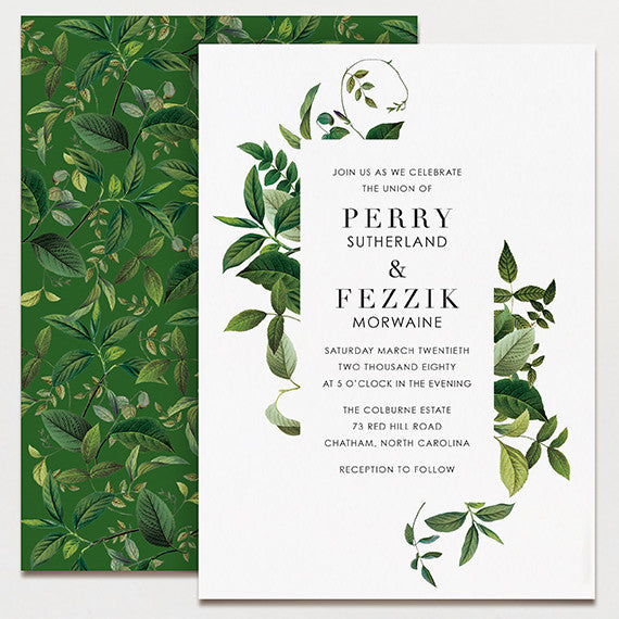 Tender Tendrils Wedding Invitation