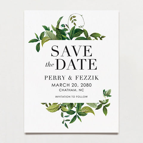 Tender Tendrils Save The Date Postcard
