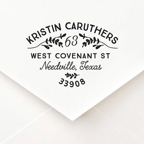 Topiary Address Stamp - $55