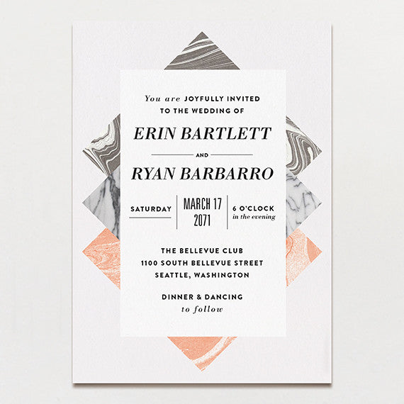 Travertine Wedding Invitation
