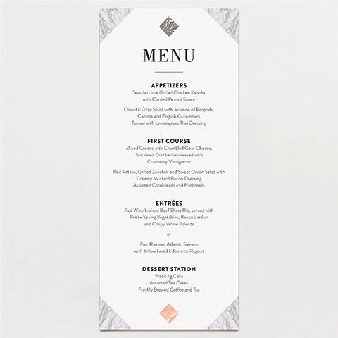 Travertine Menu