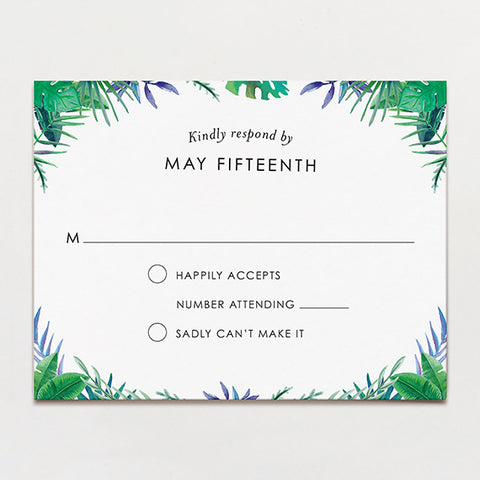 Tropical Watercolor Response Card