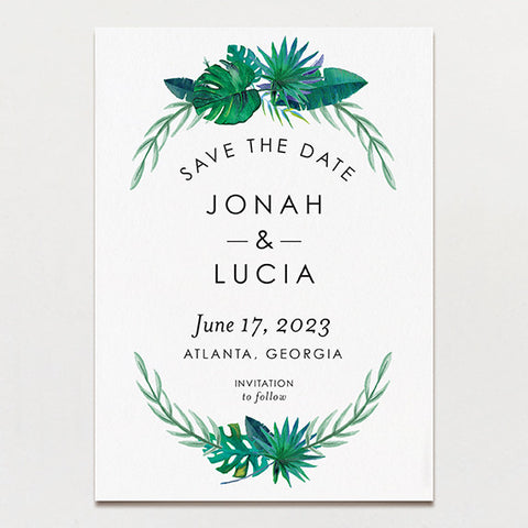Tropical Watercolor Save The Date