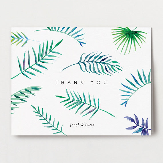 Tropical Watercolor Thank You Folded