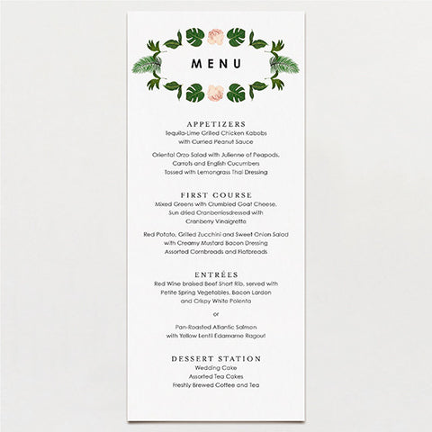 Tropical Symmetry Menu