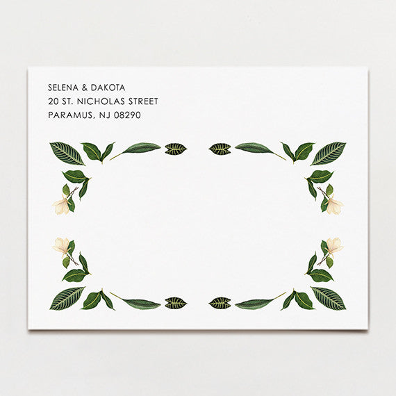 Tropical Symmetry Save The Date Postcard