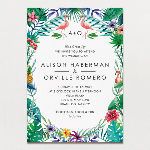 Truly Tropical Wedding Invitation