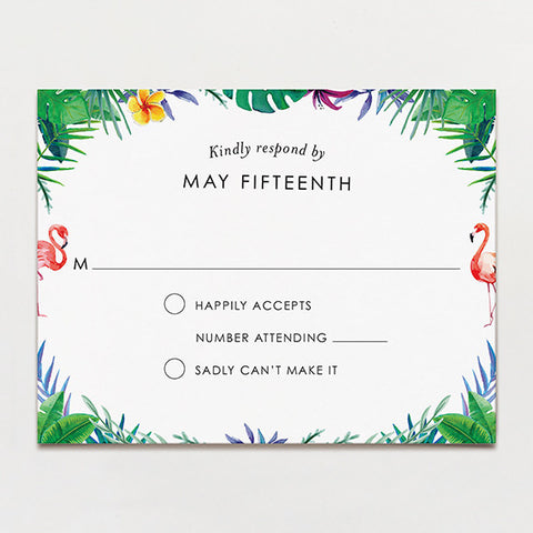 Truly Tropical Response Card