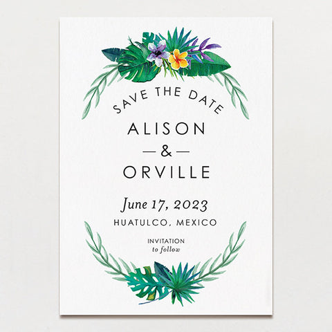 Truly Tropical Save The Date