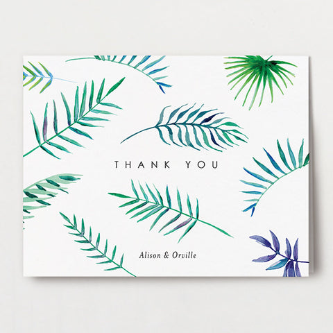 Truly Tropical Thank You Folded