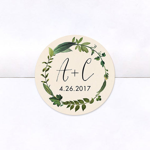 Twig Initials Logo Stickers