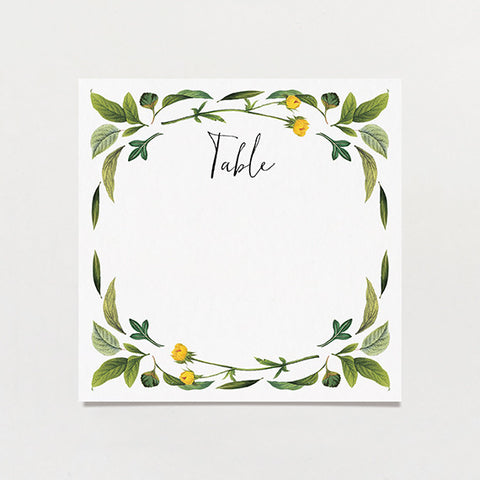 Twig Initials Table Number
