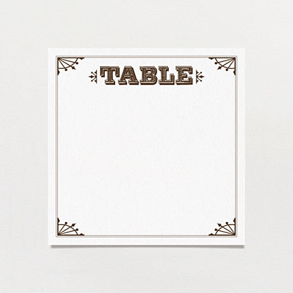 Western Cosmopolitan Table Number