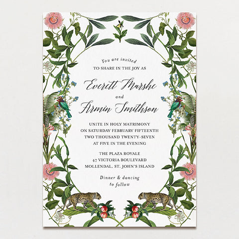 Wild At Heart Wedding Invitation