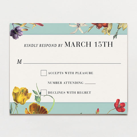 Wildflower Bouquet Response Card