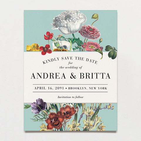 Wildflower Bouquet Save The Date Postcard