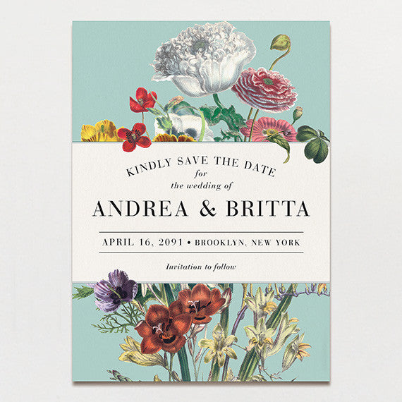 Wildflower Bouquet Save The Date