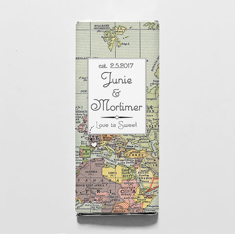 World Map Printable Candy Bar Wrapper—$14.95