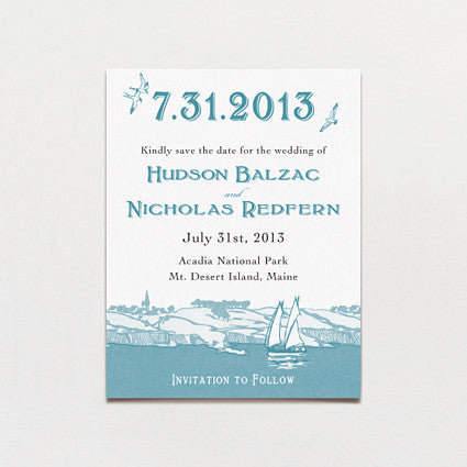 Acadia Island Save The Date Postcard