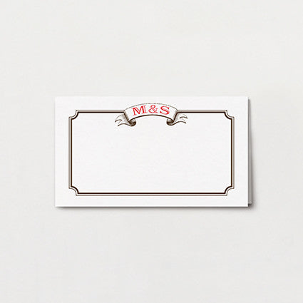 Aerial Steam Place Card