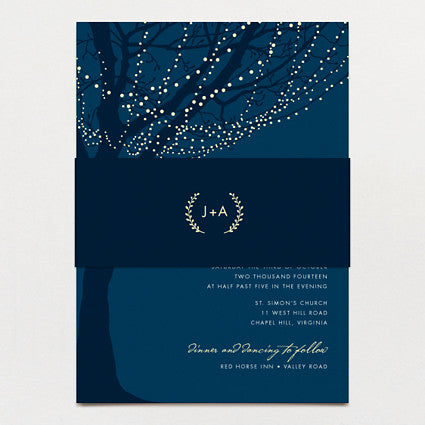 All Lit Up Wedding Invitation