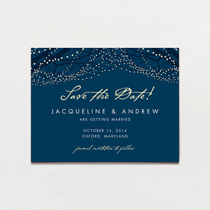 All Lit Up Save The Date Postcard