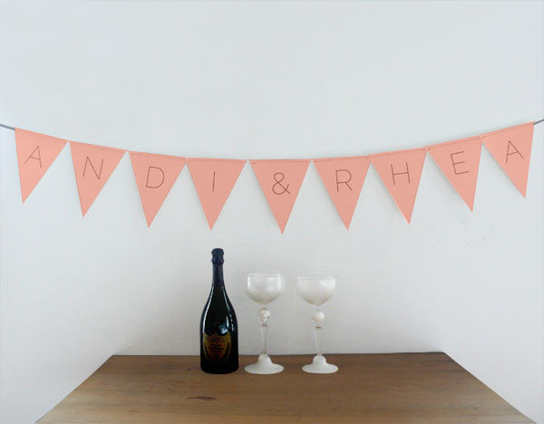 Customizable Modern Pennants Free Printable