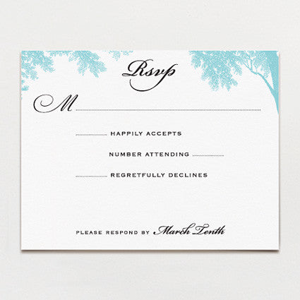 Banquet In The Woods Response Card