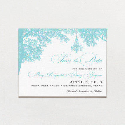 Banquet In The Woods Save The Date Postcard