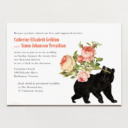 Bearing Gifts Wedding Invitation