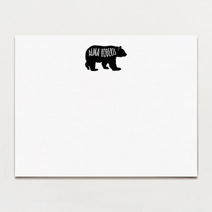 Bear Personalized Note Card