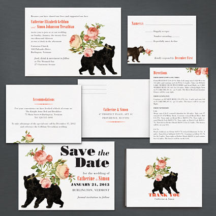 Bearing Gifts Save The Date Postcard