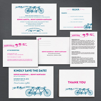 Bicycle Built For Two Place Card