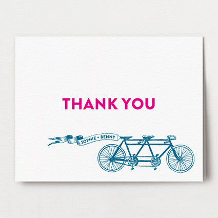 Bicycle Built For Two Thank You Folded