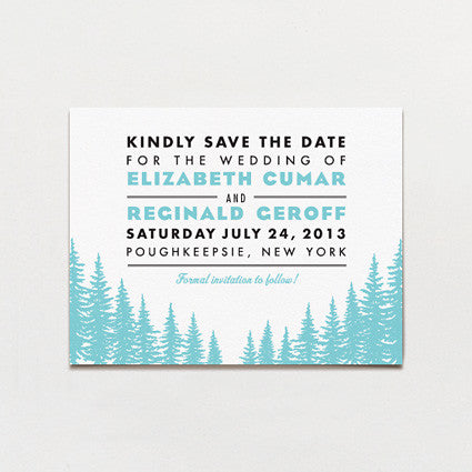 Big Sky Country Save The Date Postcard