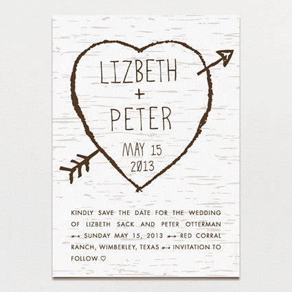 Birch Bark Love Save The Date