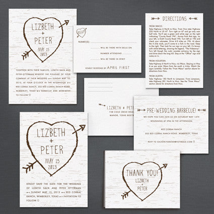 Birch Bark Love Wedding Invitation