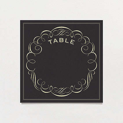 Black Label Table Number