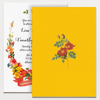 Bouquet Wedding Invitation