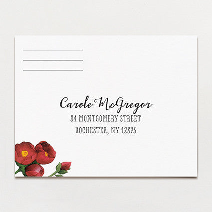 Bouquet Response Postcard