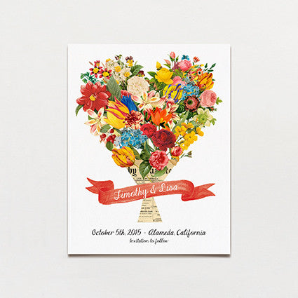 Bouquet Save The Date Postcard