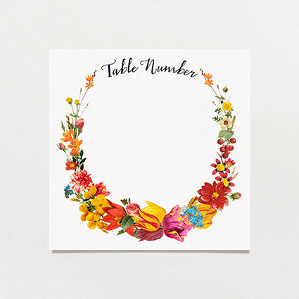 Bouquet Table Number