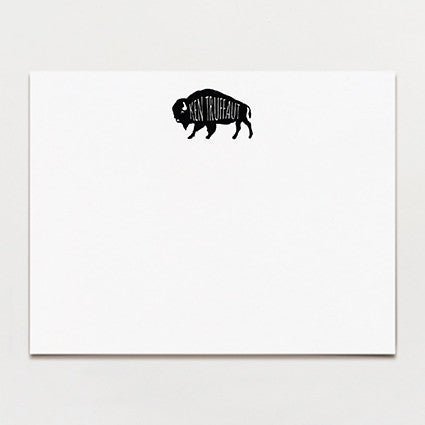Buffalo Personalized Note Card